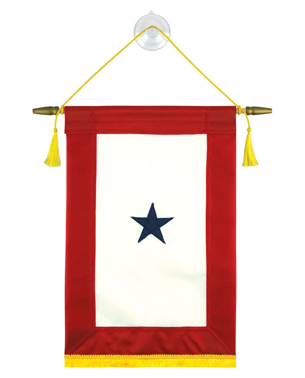 One Star - Fully Sewn Blue Star Service Banners