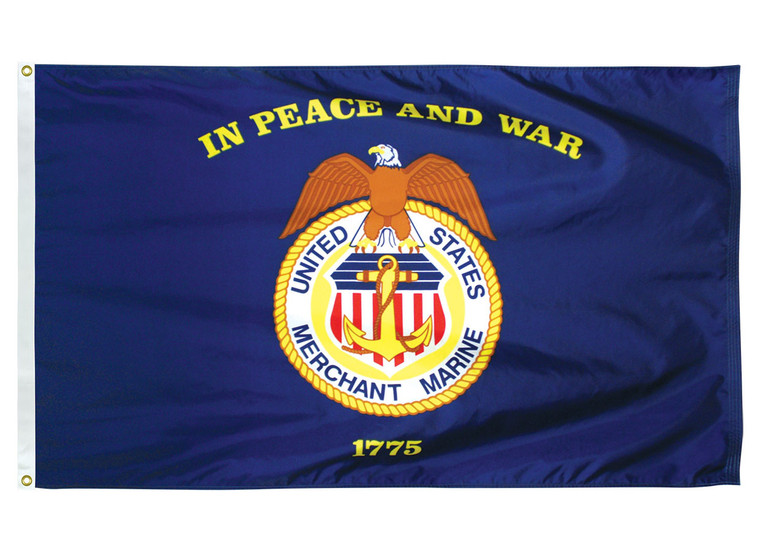 Merchant Marine Indoor/Parade Flags with Pole Hem