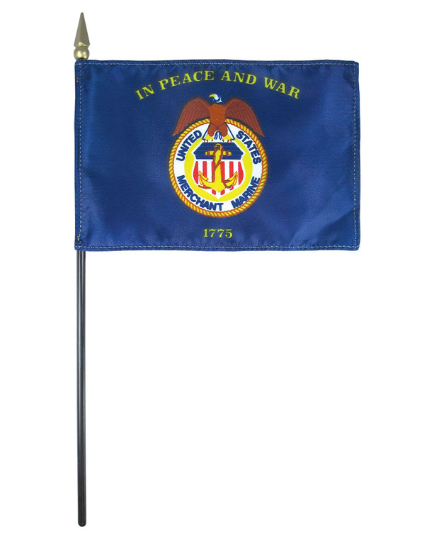 Merchant Marine Flag on a Stick