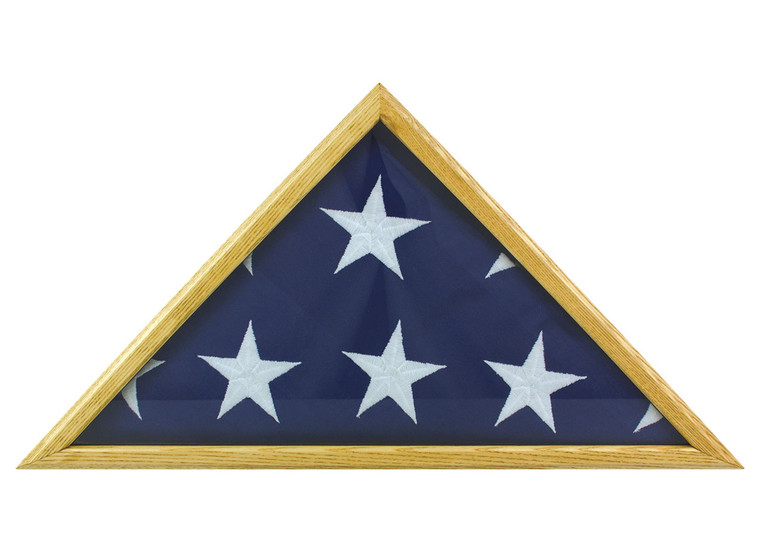 Oak Memorial Flag Case