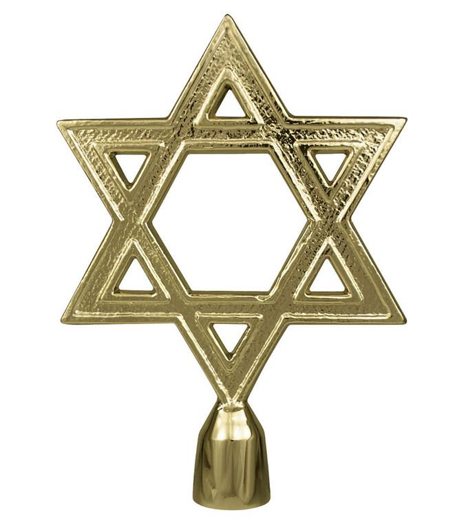 Metal Star of David Flagpole Ornaments