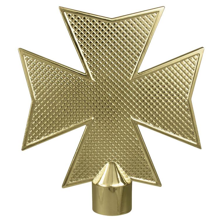 Metal Maltese Cross Flagpole Ornaments