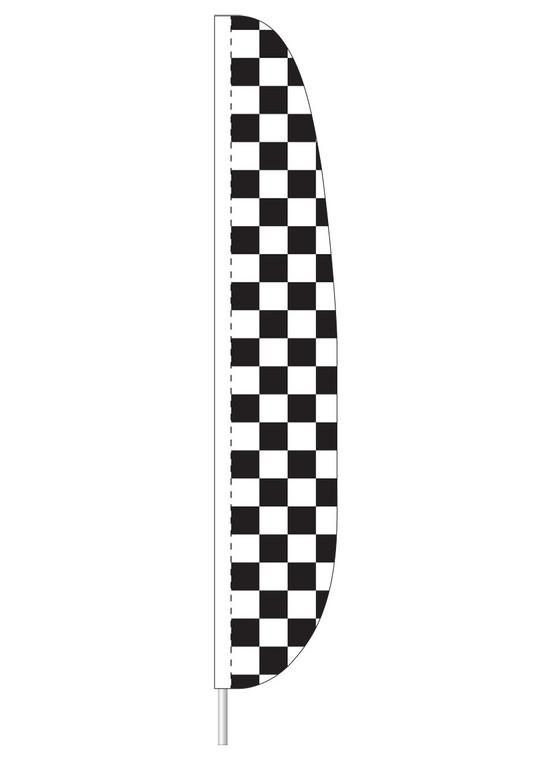 Black & White Checkered - Heavy Duty Feather Flag