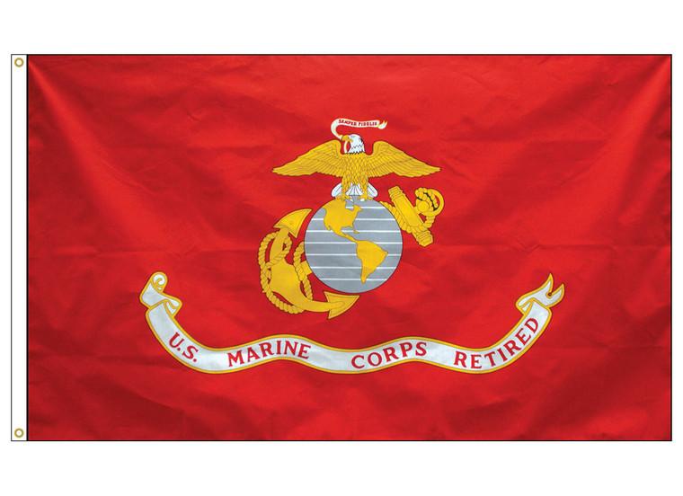 3' x 5' Marine Corps Retired Flag