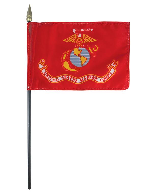 U.S. Marine Corps Flag on a Stick
