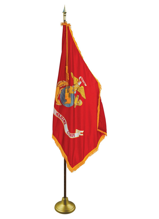 Marine Corps Indoor/Parade Flags with Pole Hem