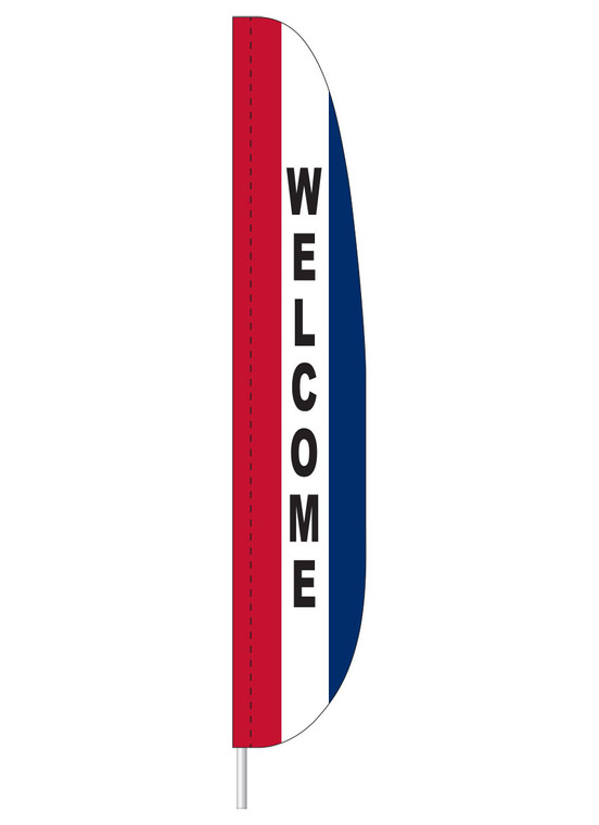 Welcome - Red/White/Blue - Heavy Duty Feather Flag