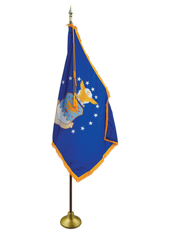 Air Force Indoor/Parade Flags with Pole Hem