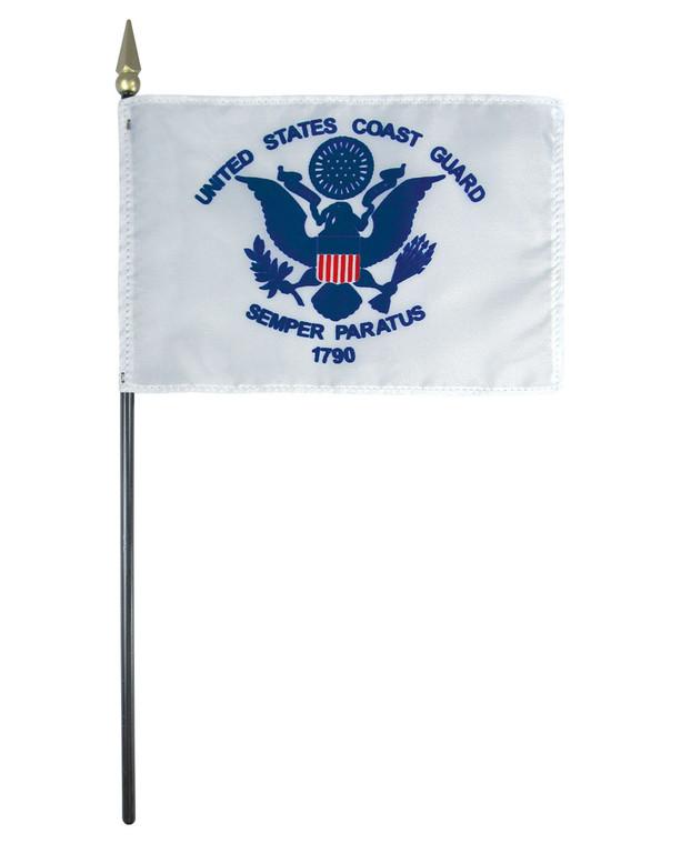 U.S. Coast Guard Flag on a Stick