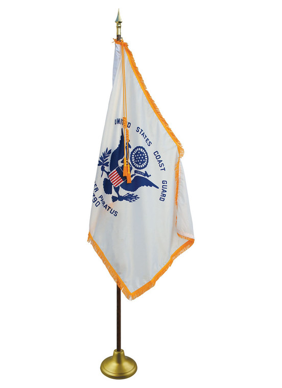 Coast Guard Indoor/Parade Flags with Pole Hem