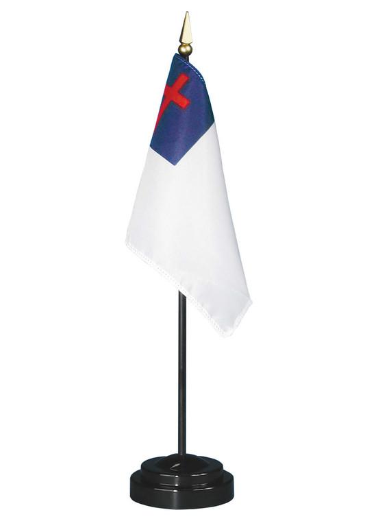 Christian Flag on a Stick