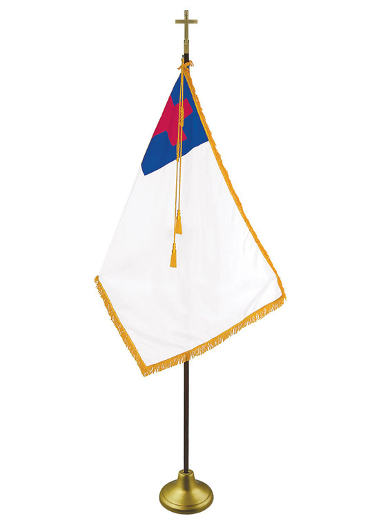 Christian Indoor/Parade Flags with Pole Hem