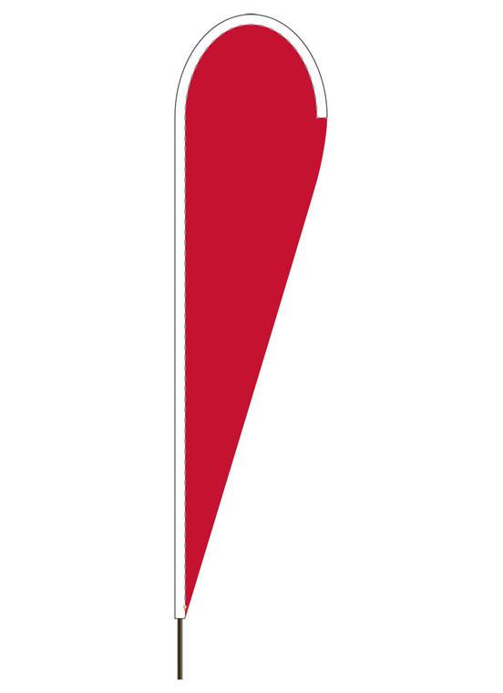 """10' x 30"""" CANADA RED - Heavy Duty Teardrop Flag"""