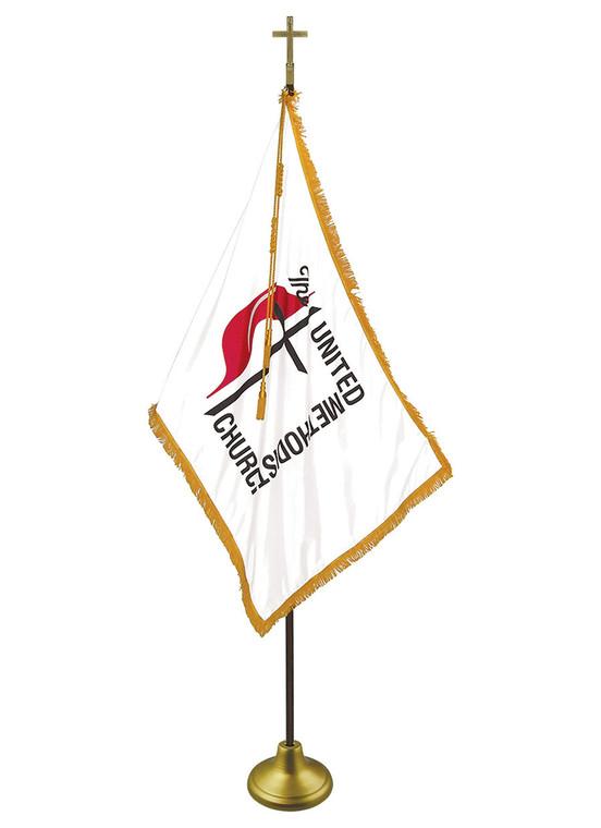 United Methodist Indoor/Parade Flags with Pole Hem