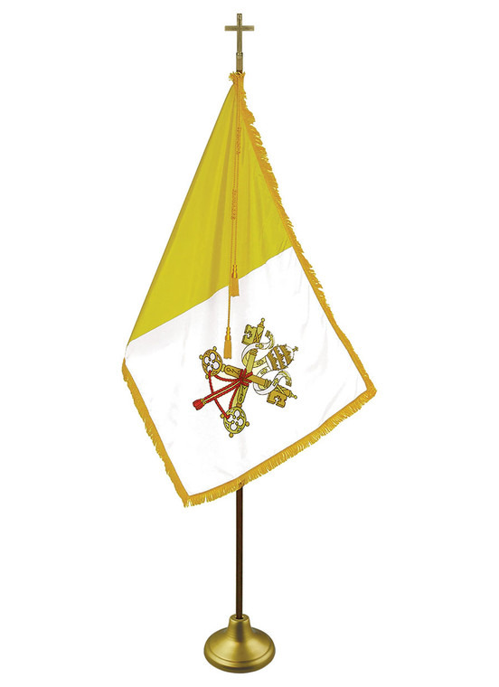 Papal Indoor/Parade Flags with Pole Hem