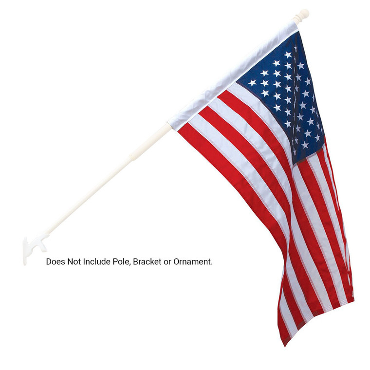 Nylon - American Flags with Pole Sleeve for Outdoors