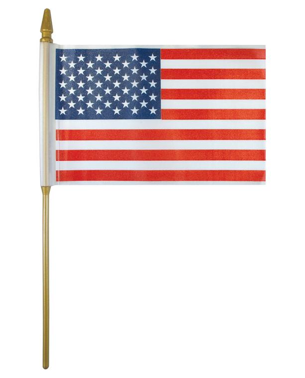 Plastic - American Flag on a Stick