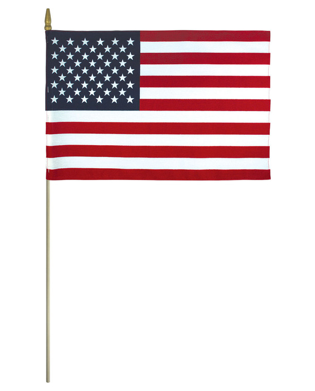 Lightweight Cotton Mounted American Flags