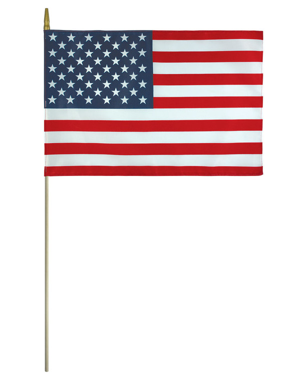 Lightweight Polyester - American Flag on a Stick