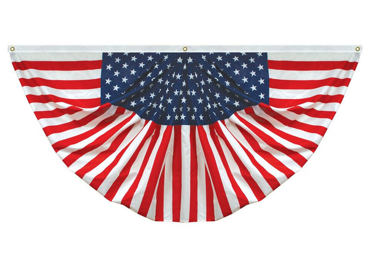 Lightweight Polyester Pleated Americana Bunting