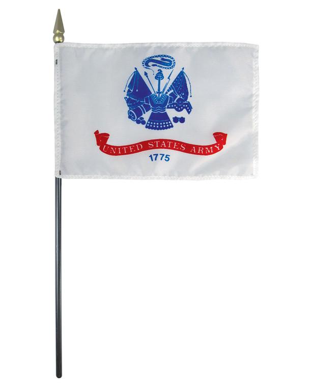 U.S. Army 4x6 E-Gloss Mounted Flag