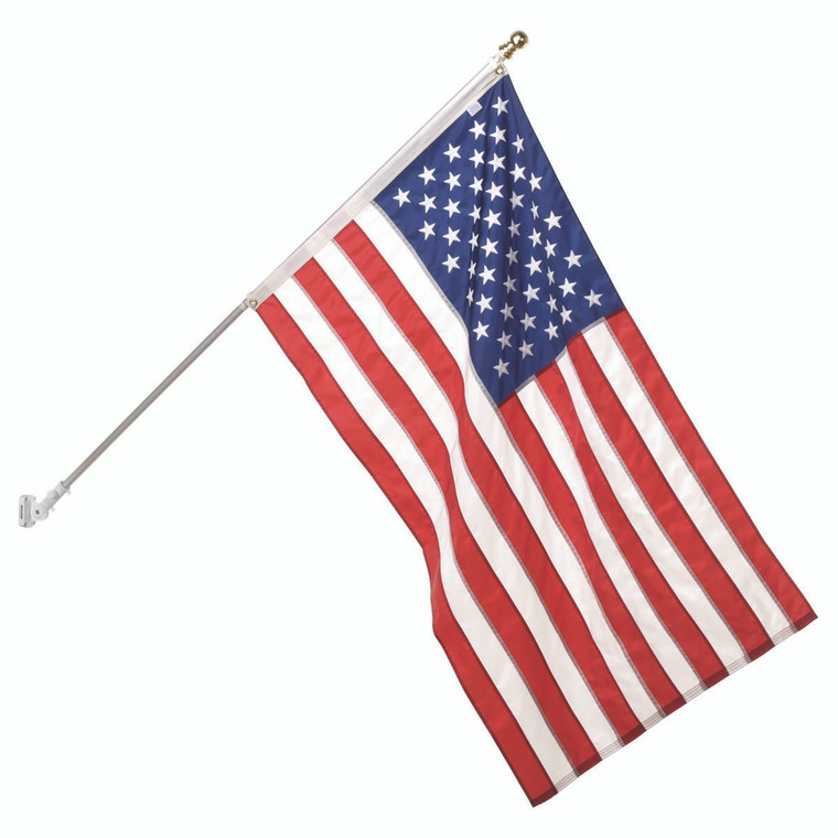 Capitol Flag Set w/ Aluminum Rotating Pole