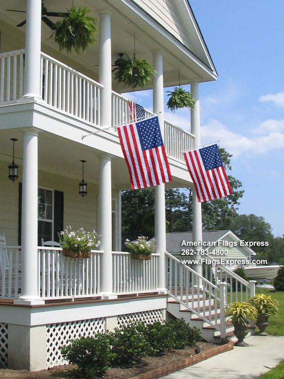 Grand American Wall Mounted Flag Set