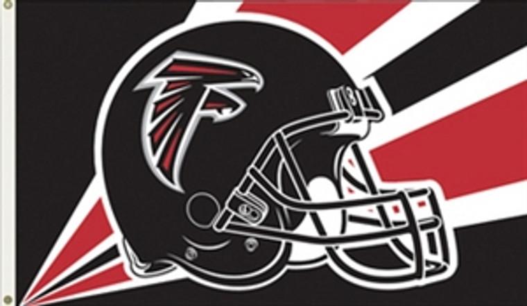 Atlanta Falcons Helmet Flag - 3' x 5'