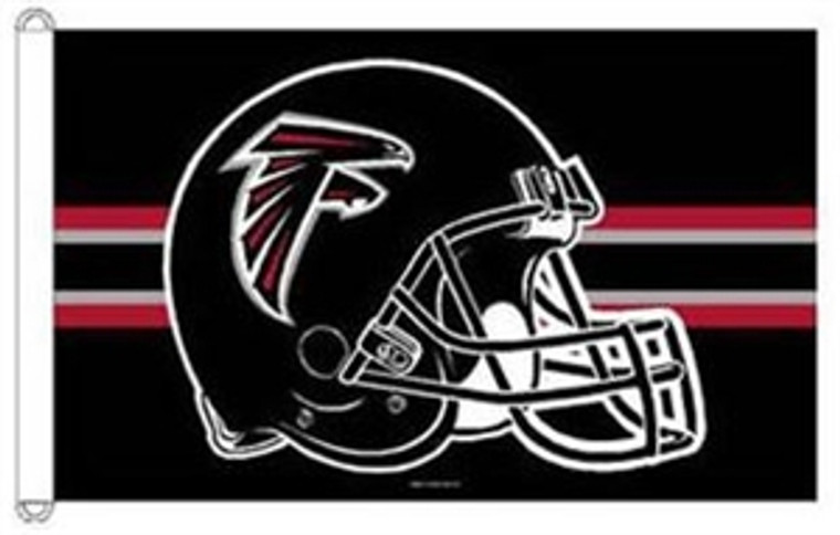 Atlanta Falcons Helmet Flag - 3' x 5'