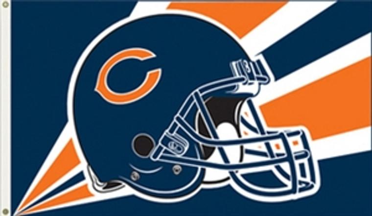 Chicago Bears Helmet Flag - 3' x 5'