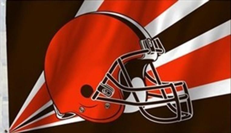 Cleveland Browns Helmet Flag - 3' x 5'