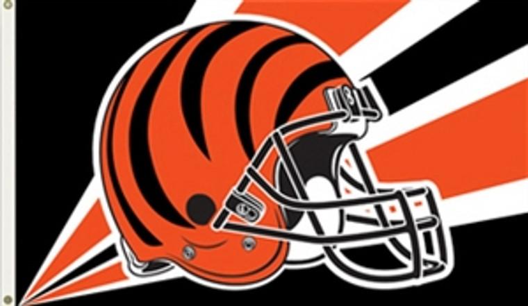 Cincinnati Bengals Helmet Flag - 3' x 5'