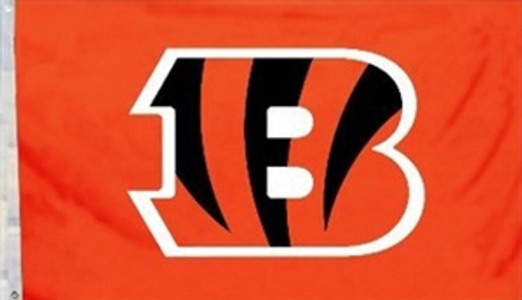 Cincinnati Bengals Logo Flag - 3' x 5'