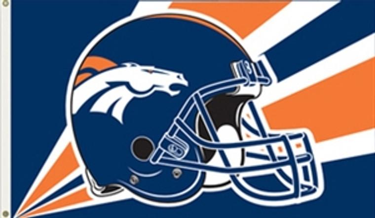 Denver Broncos Helmet Flag - 3' x 5'