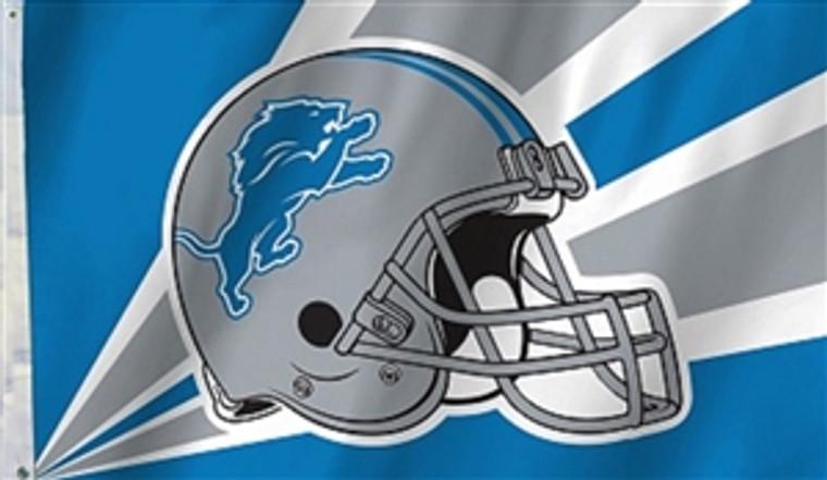 Detroit Lions Helmet Flag - 3' x 5'
