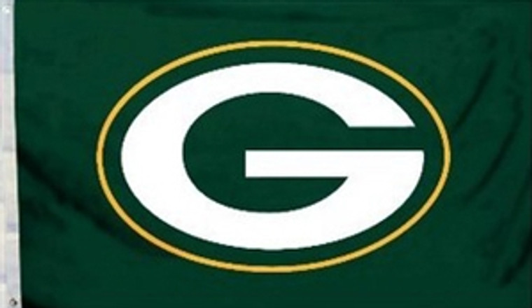 Green Bay Packers Logo Flag - 3' x 5'