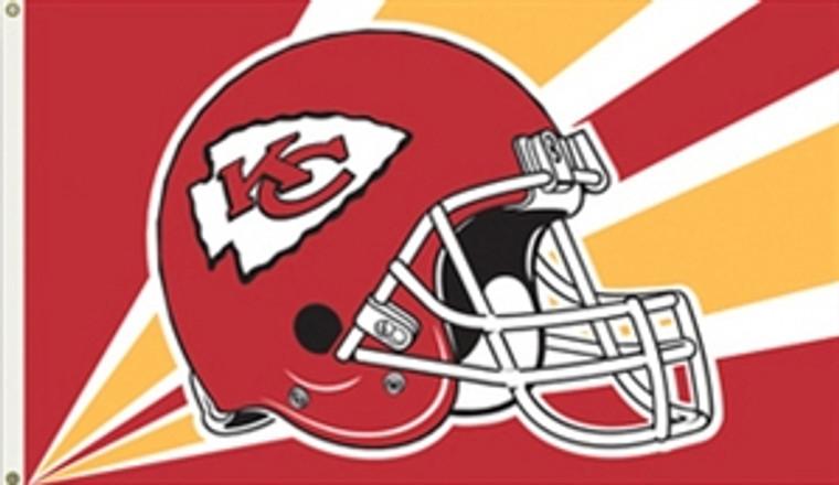 Kansas City Helmet Flag - 3' x 5'