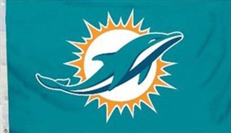 Miami Dolphins Logo Flag - 3' x 5'
