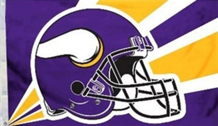 Minnesota Vikings Helmet Flag - 3' x 5'