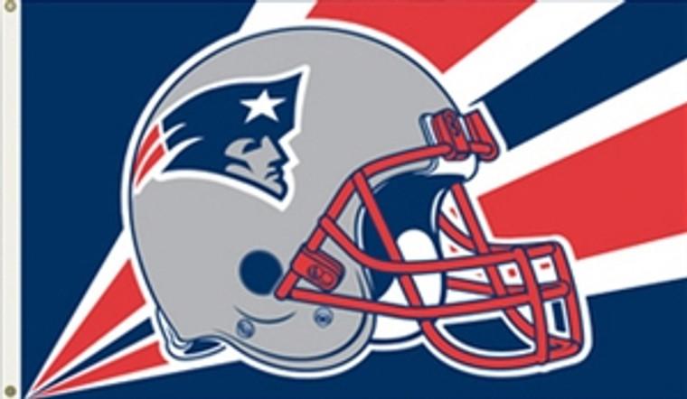 New England Patriots Helmet Flag - 3' x 5'