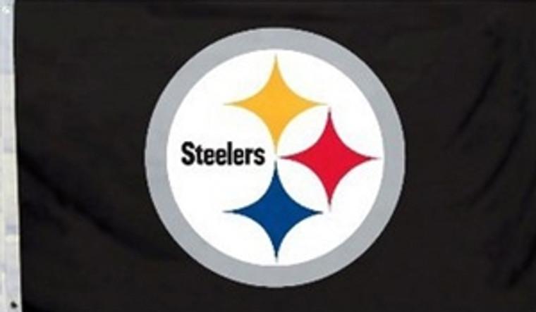 Pittsburgh Steelers Logo Flag - 3' x 5'