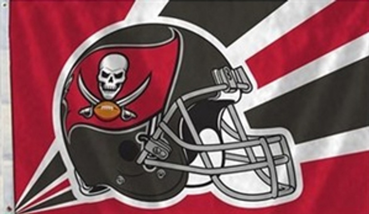 Tampa Bay Buccaneers Helmet Flag - 3' x 5'