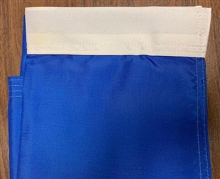 Solid Blue 30'' x 32'' Nylon Flag w/ Pole Hem