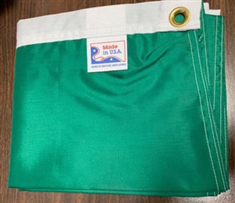 Solid Emerald Green 3' x 5' Nylon Flag