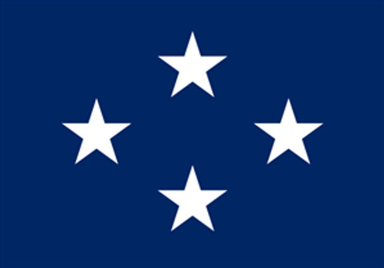 4 Star Navy Officers 4''x 6'' E-Gloss Flag