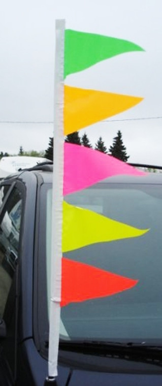 Day-Glo Antenna Pennant Streamers