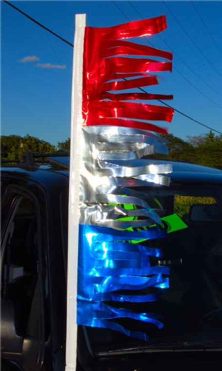 Metallic Hula Antenna Streamers