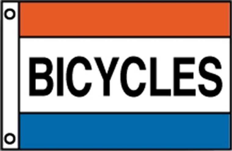 BICYCLES- Red/White/Blue Message Flag