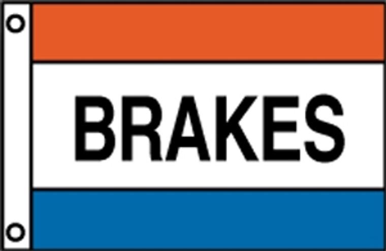 BRAKES - Red/White/Blue Message Flag