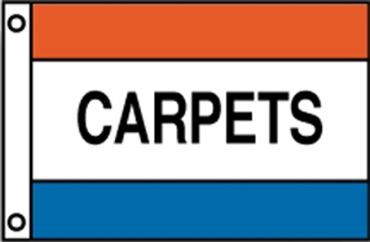 CARPETS - Red/White/Blue Message Flag